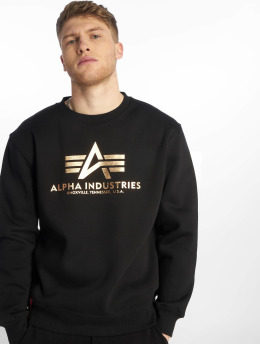 Alpha Industries trui Basic  zwart