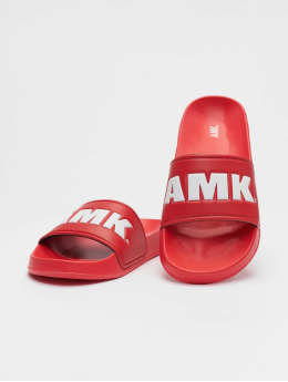 AMK Sandály Logo červený