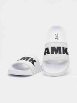 AMK Sandály Logo  bílý