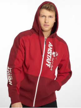 Amstaff Hoodies con zip Mahali rosso