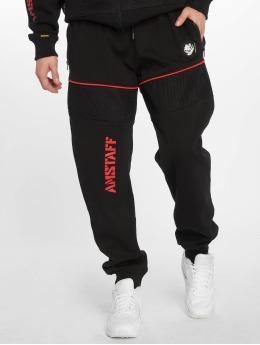 Amstaff Jogging kalhoty Karas čern