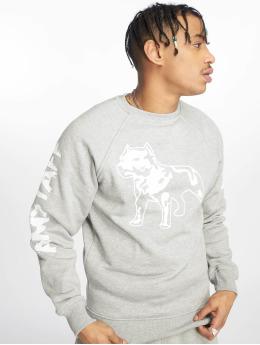 Amstaff Pullover Logo grey