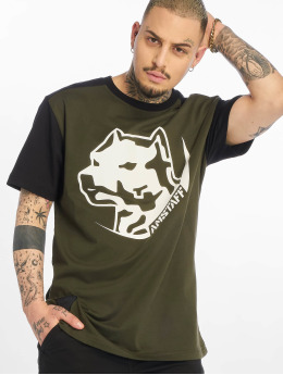 Amstaff t-shirt Rekas olijfgroen