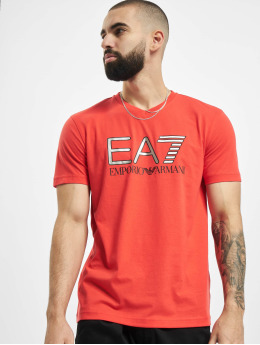 Armani T-paidat EA7 II V-Neck punainen