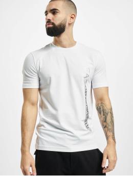 Armani T-Shirt Logo Stripe blanc