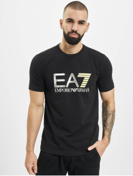 Armani T-Shirty EA7 II V-Neck czarny