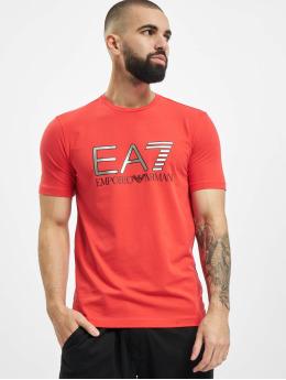 Armani T-Shirty EA7 II czerwony