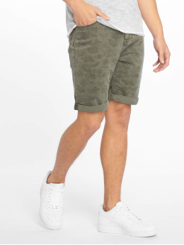 Authentic Style shorts Denim Optic Bermuda Allover Print groen