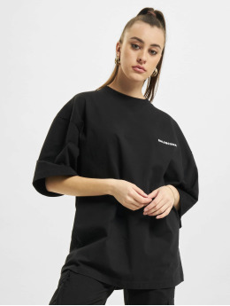 Balenciaga Camiseta Extra Large Fit Defile Back Print negro