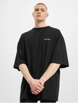 Balenciaga Camiseta Defile Back Logo negro