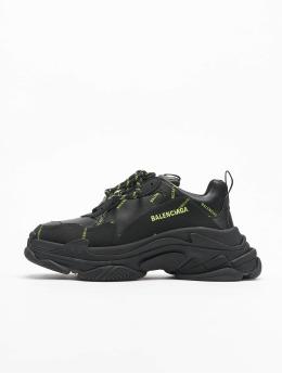 Balenciaga Sneaker Triple S Allover Logo  schwarz