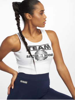 Better Bodies Topssans manche Team BB Rib blanc
