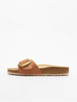 Birkenstock Claquettes & Sandales Madrid Big Buckle Nubuk brun