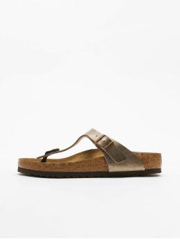 Birkenstock Sandály Gizeh BF hnědý
