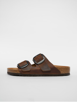 Birkenstock Slipper/Sandaal Arizona Big Buckle FL bruin