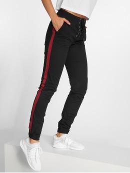 Bisous Project joggingbroek Stripon zwart