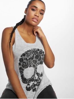 Bisous Project Tank Tops Skull gris