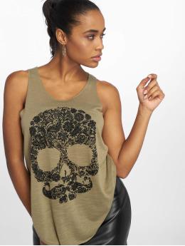 Bisous Project Tanktop Skull khaki