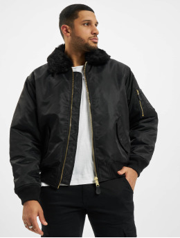Brandit Куртка-бомбардир Ma2 Fur черный