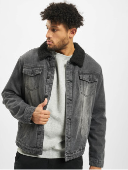 Brandit Denim Jacket Sherpa  black