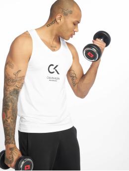 Calvin Klein Performance Sport Tanks Logo weiß