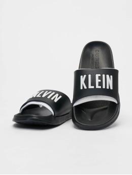 Calvin Klein Slipper/Sandaal Logo zwart