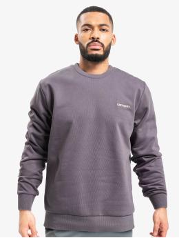 Carhartt WIP Пуловер Script Embroidery пурпурный