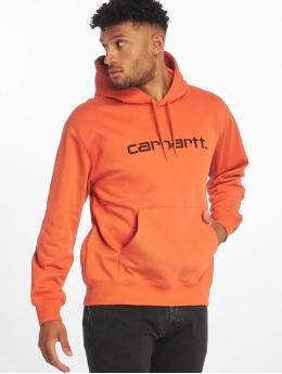 Carhartt WIP Bluzy z kapturem Label pomaranczowy