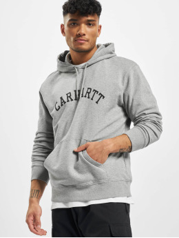 Carhartt WIP Bluzy z kapturem University szary