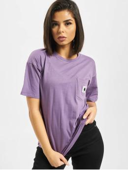 Carhartt WIP Camiseta Carrie Pocket  púrpura
