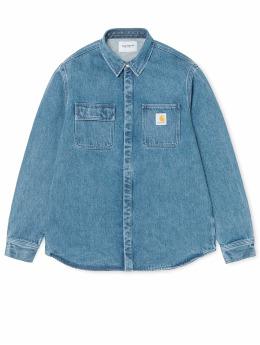 Carhartt WIP Hemd Salinac blau