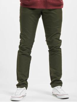 Carhartt WIP Látkové kalhoty WIP Lamar Slim Fit Sid zelený