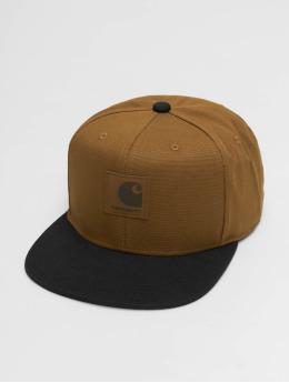 Carhartt WIP Snapback Cap  Logo Bi-Colored brown
