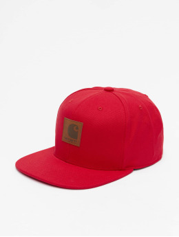 Carhartt WIP Snapback Caps Logo  červený