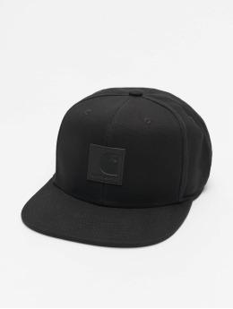 Carhartt WIP Snapback Caps Logo Canvas czarny