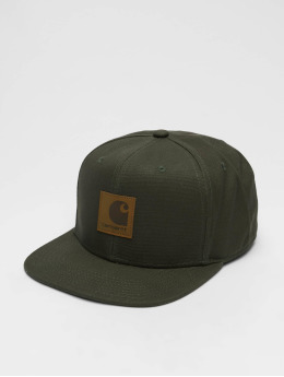 Carhartt WIP Snapback Caps Logo  oliwkowy