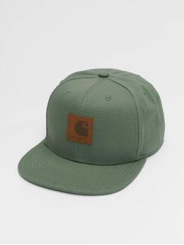 Carhartt WIP Snapback Caps Logo Canvas zelený