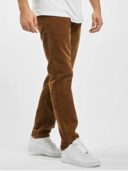 Carhartt WIP Spodnie sztruksowe Klondike brazowy