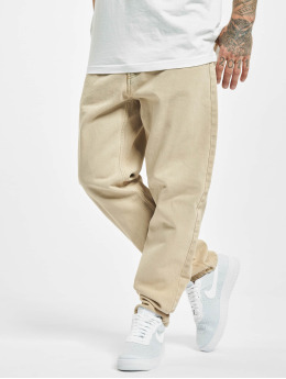 Carhartt WIP Straight Fit Jeans Newel  béžový