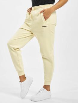 Carhartt WIP Sweat Pant Script Embroidery beige