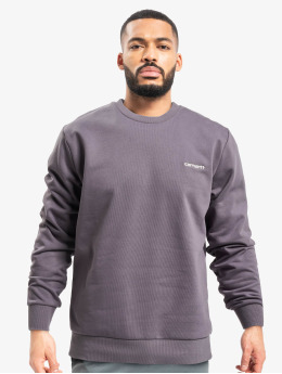 Carhartt WIP Swetry Script Embroidery fioletowy