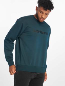 Carhartt WIP Swetry Label niebieski