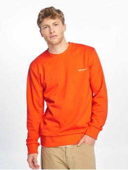 Carhartt WIP Swetry Script Embroidery pomaranczowy