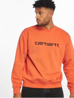Carhartt WIP Swetry Label pomaranczowy