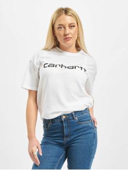 Carhartt WIP T-paidat S/S Script valkoinen