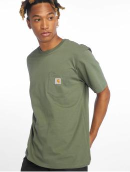 Carhartt WIP T-paidat Pocket vihreä