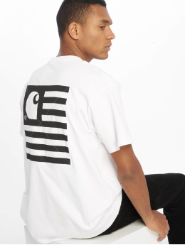 Carhartt WIP T-shirt State Patch bianco
