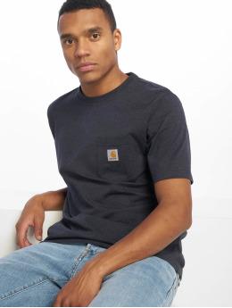 Carhartt WIP T-Shirt Pocket blau