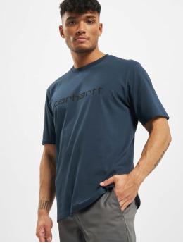 Carhartt WIP T-shirt Script blu
