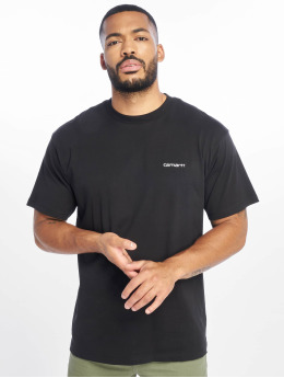 Carhartt WIP T-shirt Script Embroidery nero